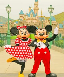 Mickey And Minnie Disneyland paint by numbers