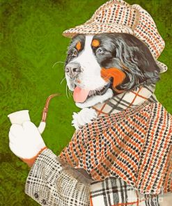 Mr Dog paint by numbers