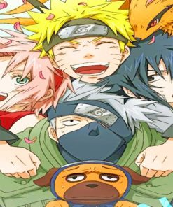 Naruto And His Friends Paint by numbers