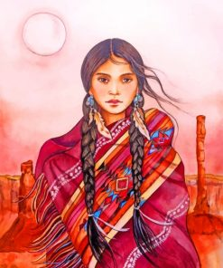 Native American Girl paint by numbers