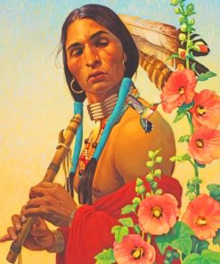 Native Man Art paint by numbers