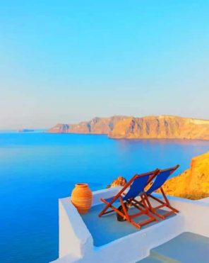 Oia Santorini Greece paint by numbers