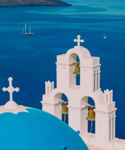Oia Santorini Greece Church Paint by numbers
