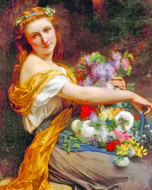 Pierre Auguste Cot paint by numbers