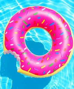 Pool Donut paint by numbers