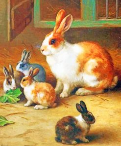 Rabbits paint by numbers