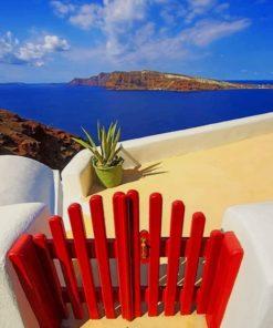 Santorini Aegean Sea Paint by numbers
