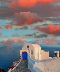 Santorini Island Paint by numbers
