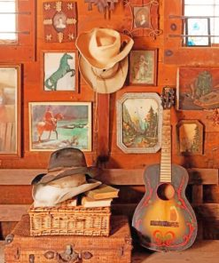 South Western Decor paint by numbers