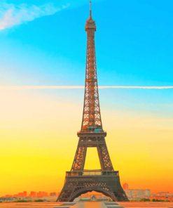 Sundown Eiffel Tower paint by numbers