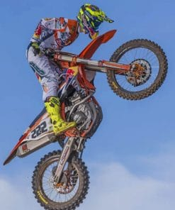 Tony Cairoli Motocross paint by numbers