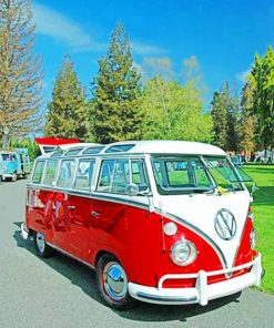 VW Microbus Paint by numbers