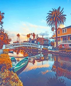 Venice Canals Los Angeles California paint by numbers