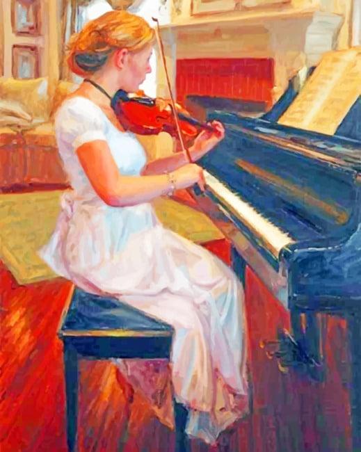 Vintage Violinist paint by numbers