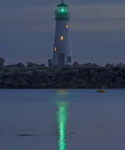 Walton Lighthouse In Santa Cruz California paint by numbers