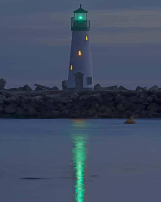 Walton Lighthouse In Santa Cruz California paint by numbers