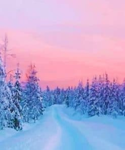 Winter Sunset paint by numbers