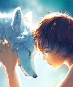 Wolf And Girl paint by numbers