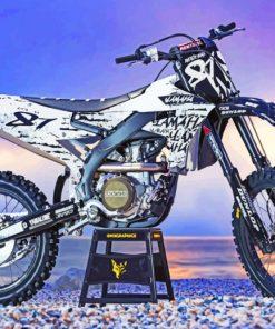 Yamaha Dirt Bike paint by numbers