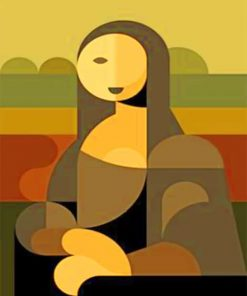 Abstract Mona Lisa paint by numbers