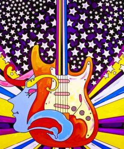 Abstract Guitar Art Paint by numbers