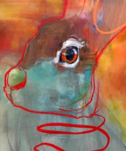 Abstract Bunny paint by numbers
