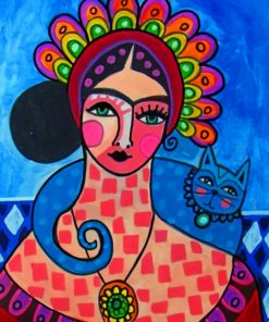 Abstract Frida Kahlo paint by numbers