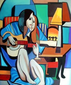 Abstract Musician paint by numbers