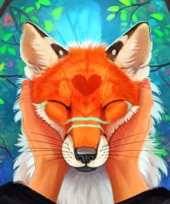 Adorable Wolf Paint by numbers