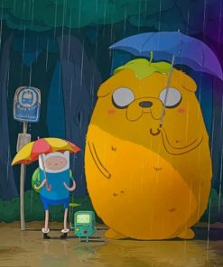Adventure Time Totoro paint by numbers
