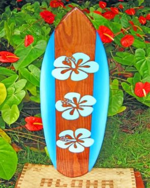 aesthetic surfboard paint by numbers