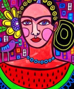 Aesthetic Abstract Frida Kahlo paint by numbers