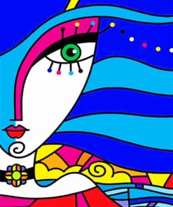 Aesthetic Abstract Face Paint by numbers