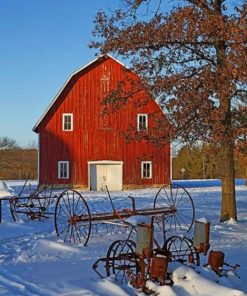 Aesthetic Barn Paint by numbers