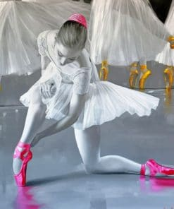 Aesthetic Black And White Ballerina Paint by numbers