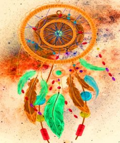 Aesthetic Colorful Dream Catcher Paint by numbers