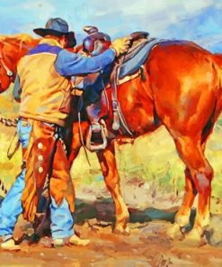 Aesthetic Cowboy Paint by numbers
