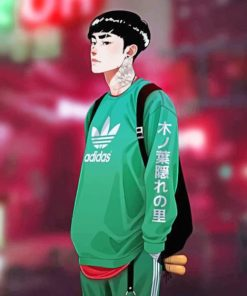 Aesthetic Rock Lee Paint by numbers