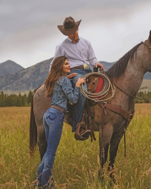 Aesthetic Western Couple paint by numbers