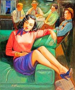Aesthetic Classy Woman With Men paint by numbers