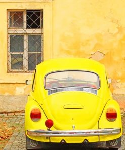 Aesthetic Yellow Volkswagen paint by numbers