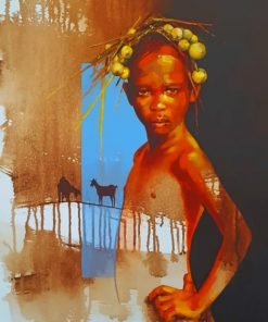 African Girl paint by numbers