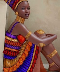 African Lady Paint by numbers