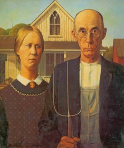 American Gothic Paint by numbers