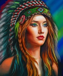American Red Indian paint by numbers