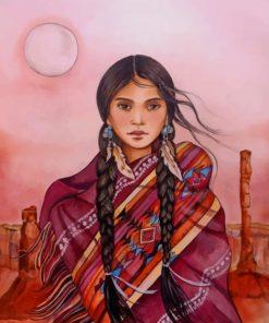 Amerindian Girl Paint by numbers