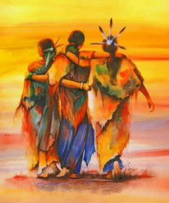 Amerindian Ladies paint by numbers