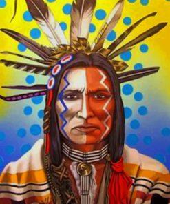 Amerindian Man paint by numbers