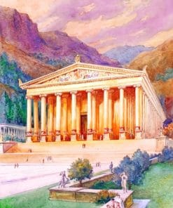Ancient Greece Architecture paint by numbers
