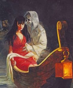 Angel Of The Death Kissing A Lady Paint by numbers